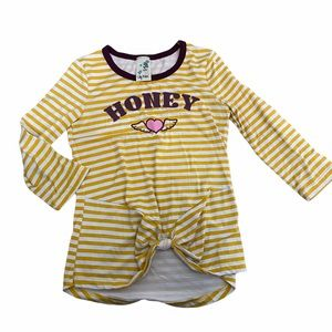 Lily Bleu Girl 3/4 Sleeve Striped Top Size M 10/12